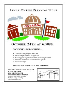 ITT college info night