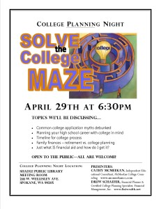 Solve the college maze 1 page flyer for library
